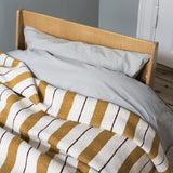 Cushions + Blankets Ferm Living Pinstripe Blanket: Mustard - The Union Project, Cheltenham, free delivery