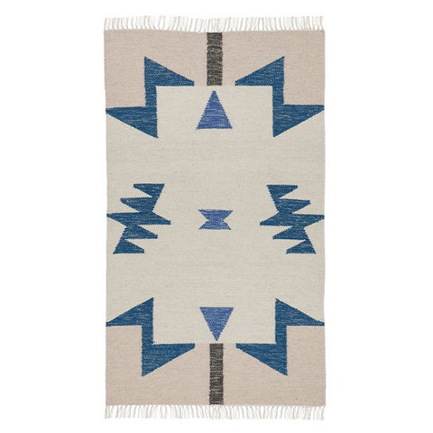 Ferm LivingKelim Rug Blue Triangles: Small