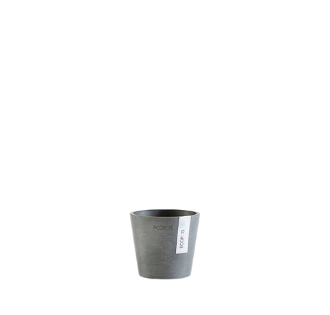Plant Pots + Vases Ecopots Amsterdam Pot Mini Small (10.5cm): Grey - The Union Project, Cheltenham, free delivery