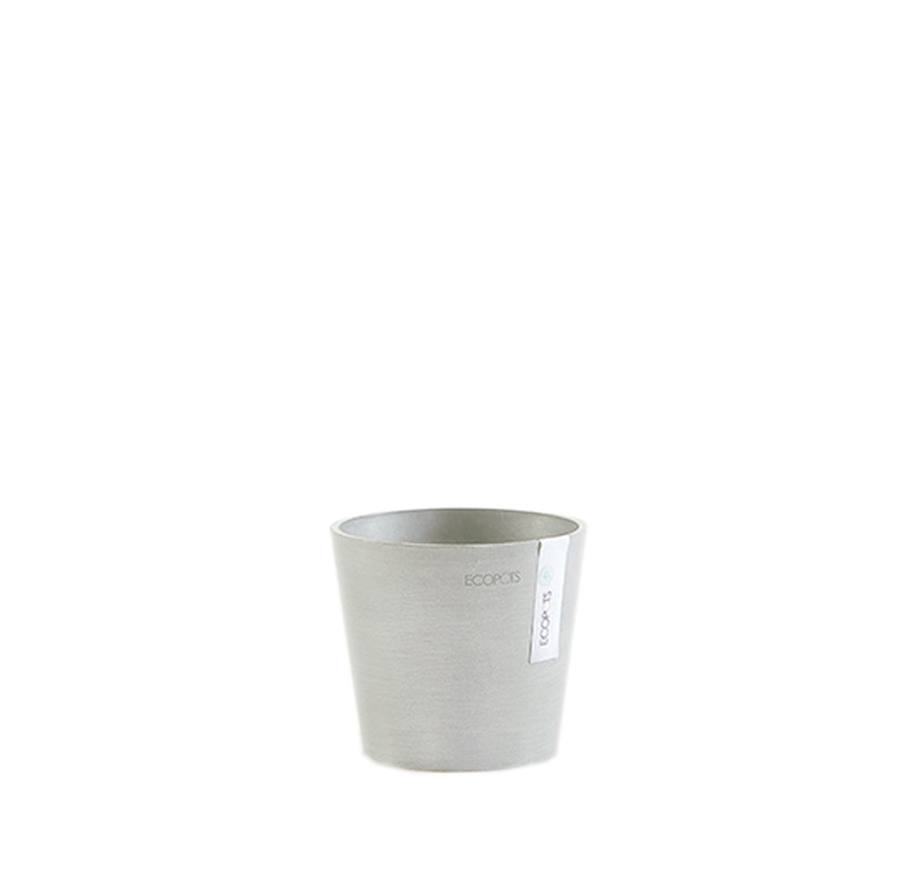 Ecopots Amsterdam Pot Mini Medium (13cm): White Grey - The Union Project