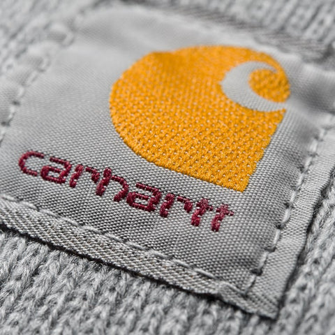 Headwear Carhartt WIP Acrylic Watch Hat: Grey Heather - The Union Project