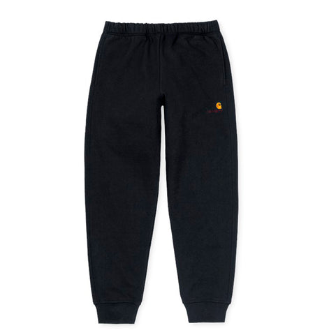 Trousers Carhartt WIP American Script Jogging Pant: Black - The Union Project