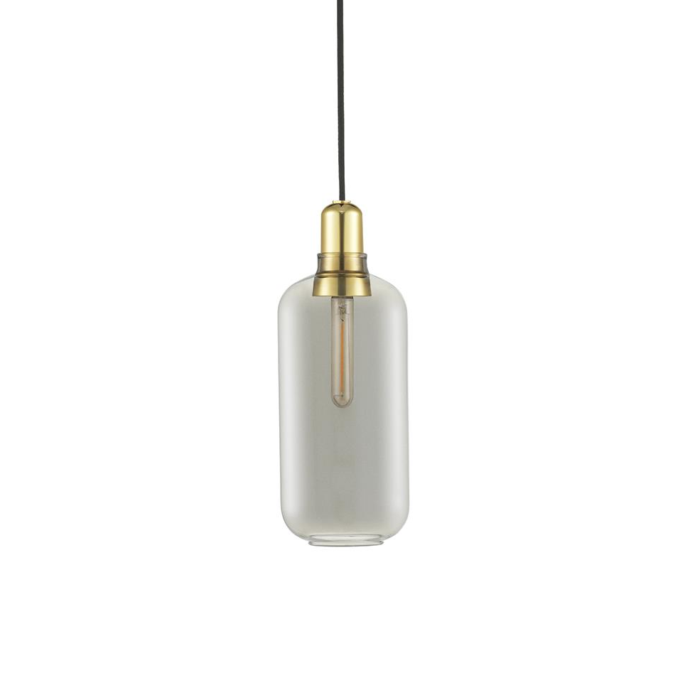 Lighting Normann Amp Lamp Large EU: Smoke/Brass - The Union Project, Cheltenham, free delivery