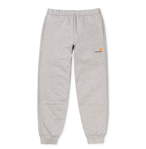 Trousers Carhartt WIP American Script Jogging Pant: Ash Heather - The Union Project