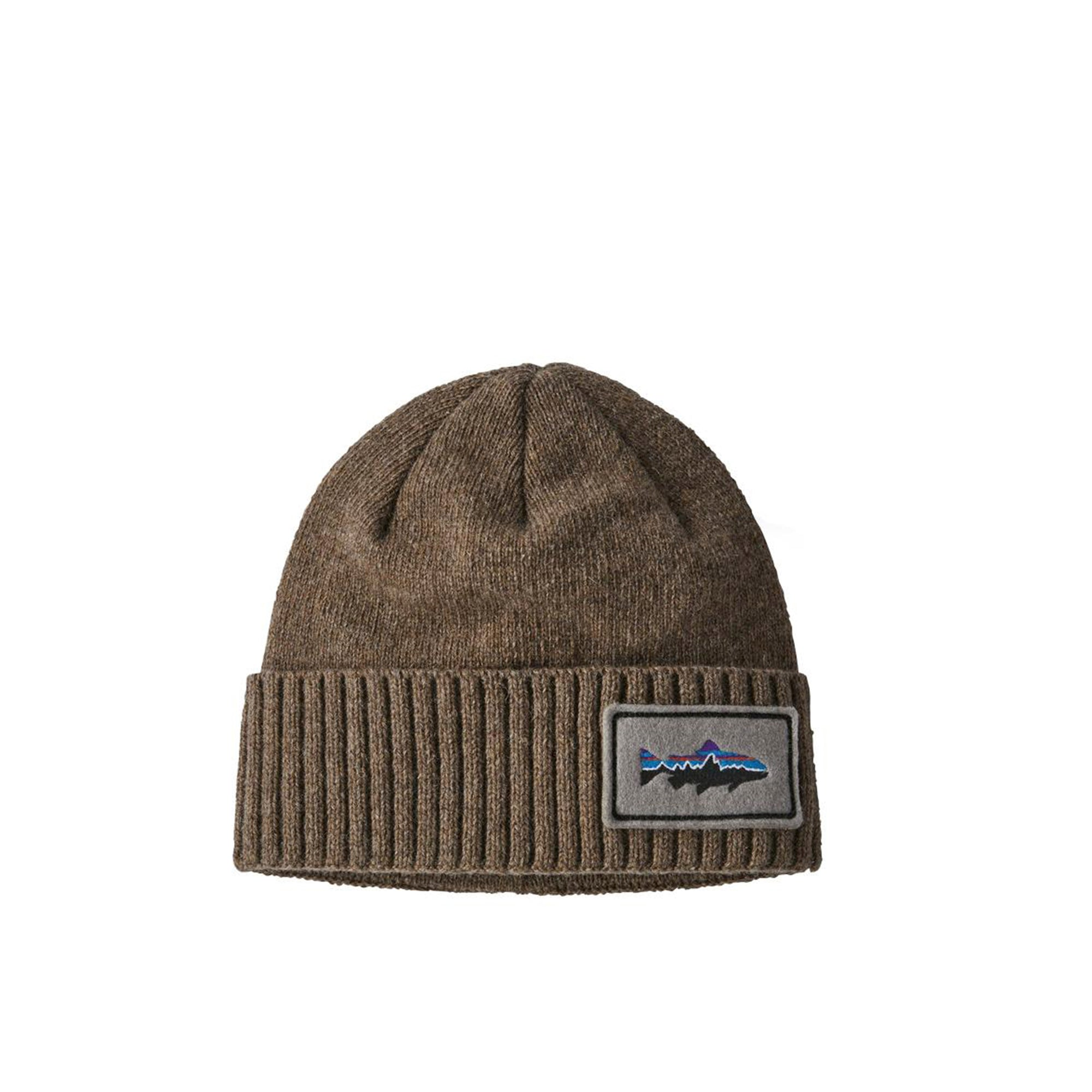 Patagonia Brodeo Beanie: Fitz Roy Trout: Ash Tan - The Union Project