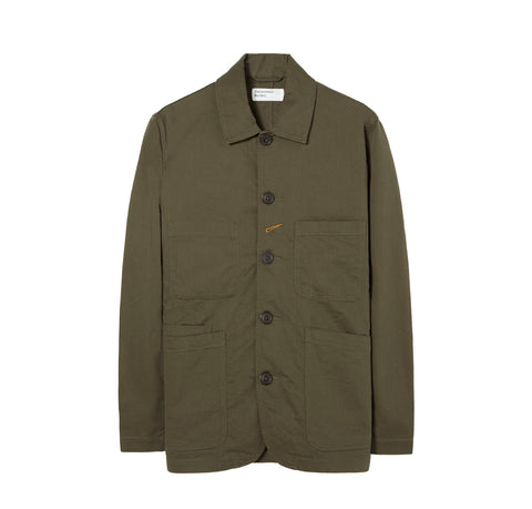 Outerwear Universal Works Bakers Jacket: Olive - The Union Project, Cheltenham, free delivery