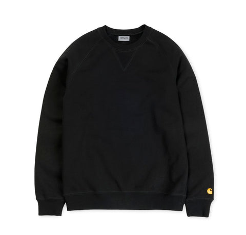 Hoods & Sweats Carhartt WIP Chase Sweat: Black - The Union Project, Cheltenham, free delivery