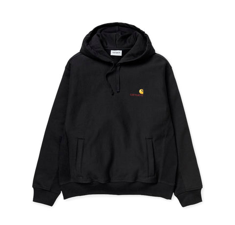 Hoods & Sweats Carhartt WIP Hooded American Script Sweat: Black - The Union Project, Cheltenham, free delivery