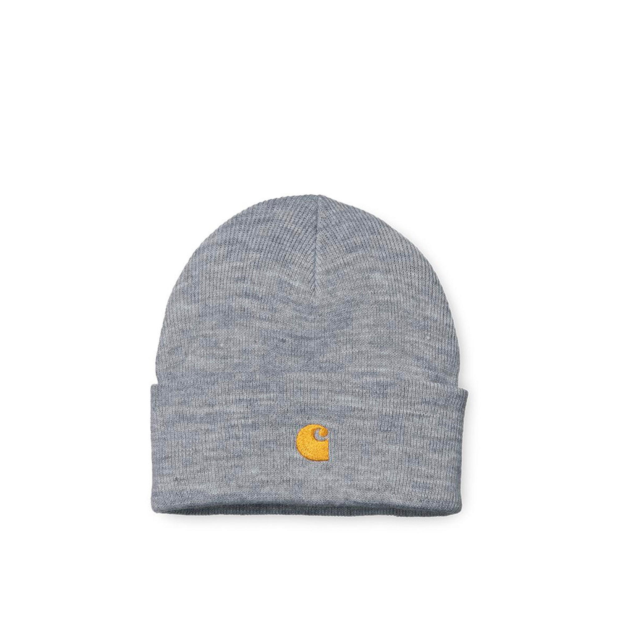 Carhartt WIP Chase Beanie: Grey Heather / Gold - The Union Project