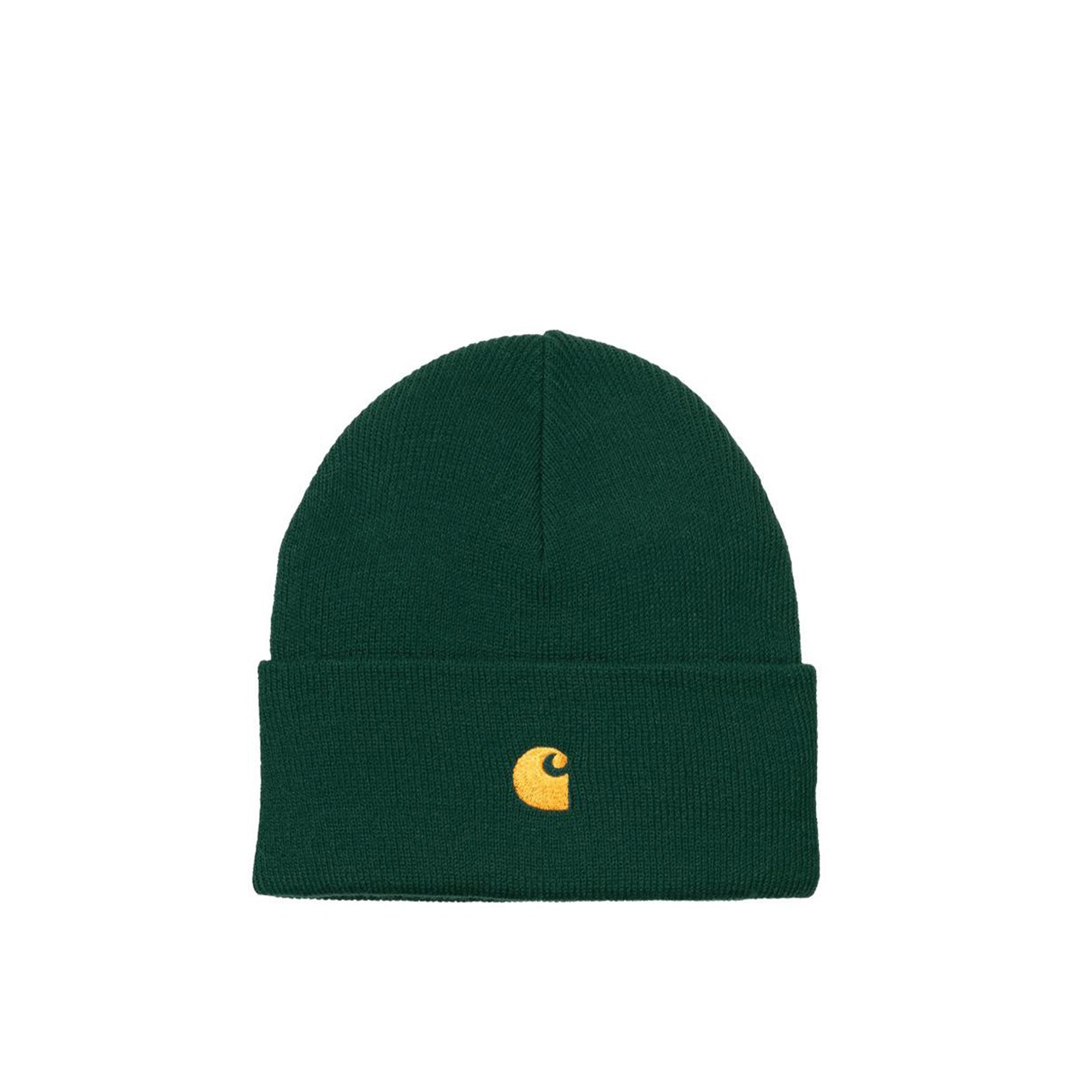 Carhartt WIP Chase Beanie: Treehouse / Gold - The Union Project