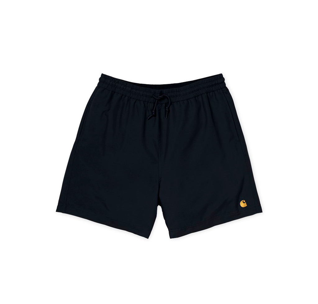 Carhartt WIP Chase Swim Trunks: Black/Gold - The Union Project