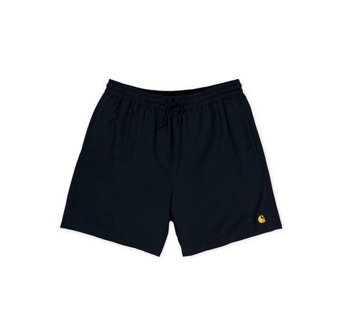 Carhartt WIP Chase Swim Trunks: Black/Gold