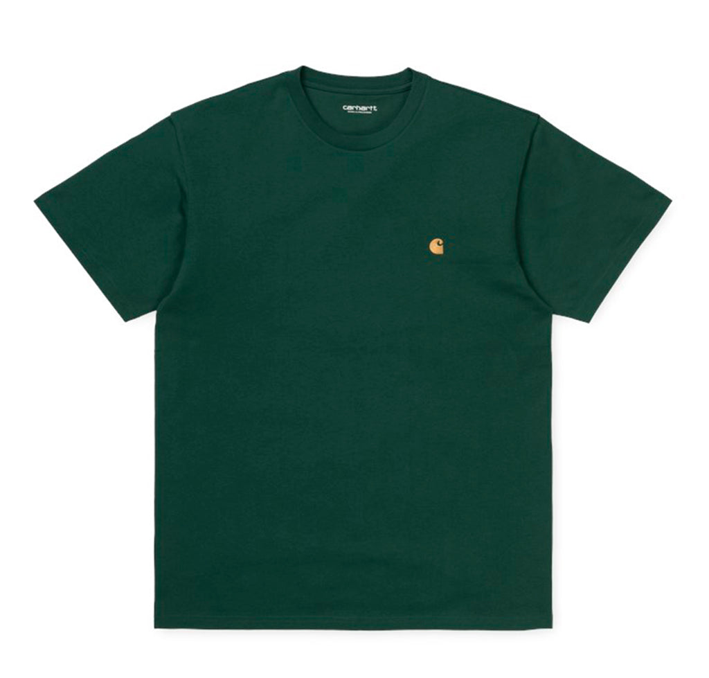 T-Shirts Carhartt WIP Chase T-Shirt: Treehouse/Gold - The Union Project, Cheltenham, free delivery