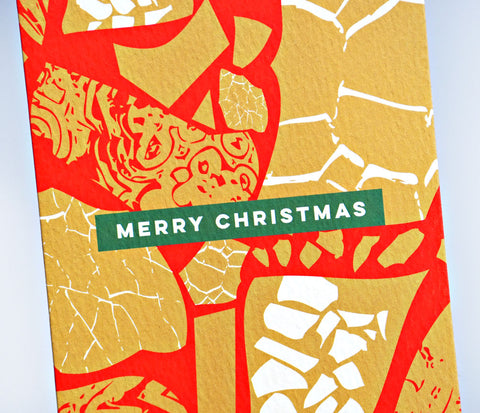 The Completist Christmas Red Terrazzo Collage