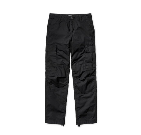 Trousers Carhartt WIP Regular Cargo Pant: Black Rinsed - The Union Project, Cheltenham, free delivery