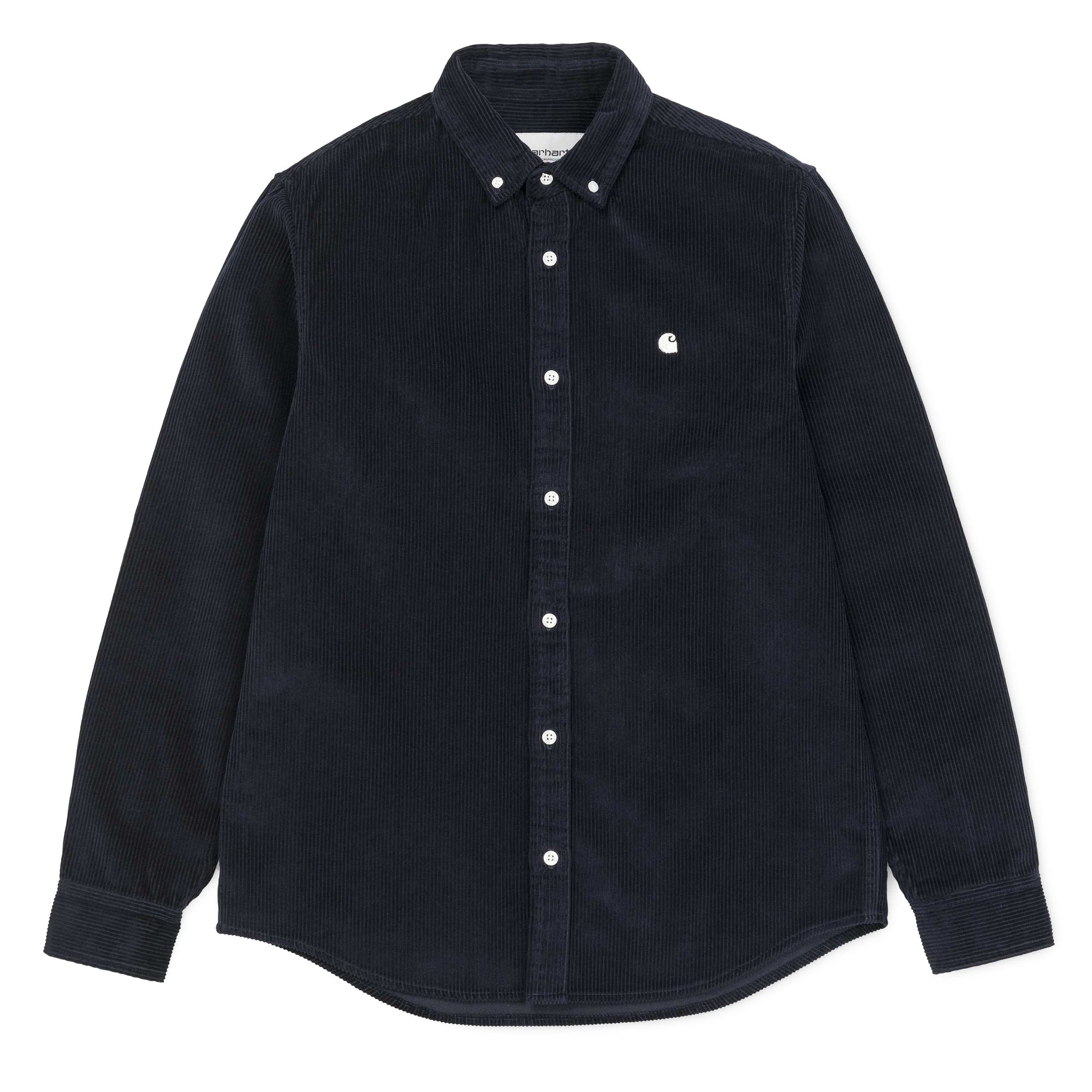Carhartt WIP Madison Cord Shirt: Dark Navy / Wax - The Union Project