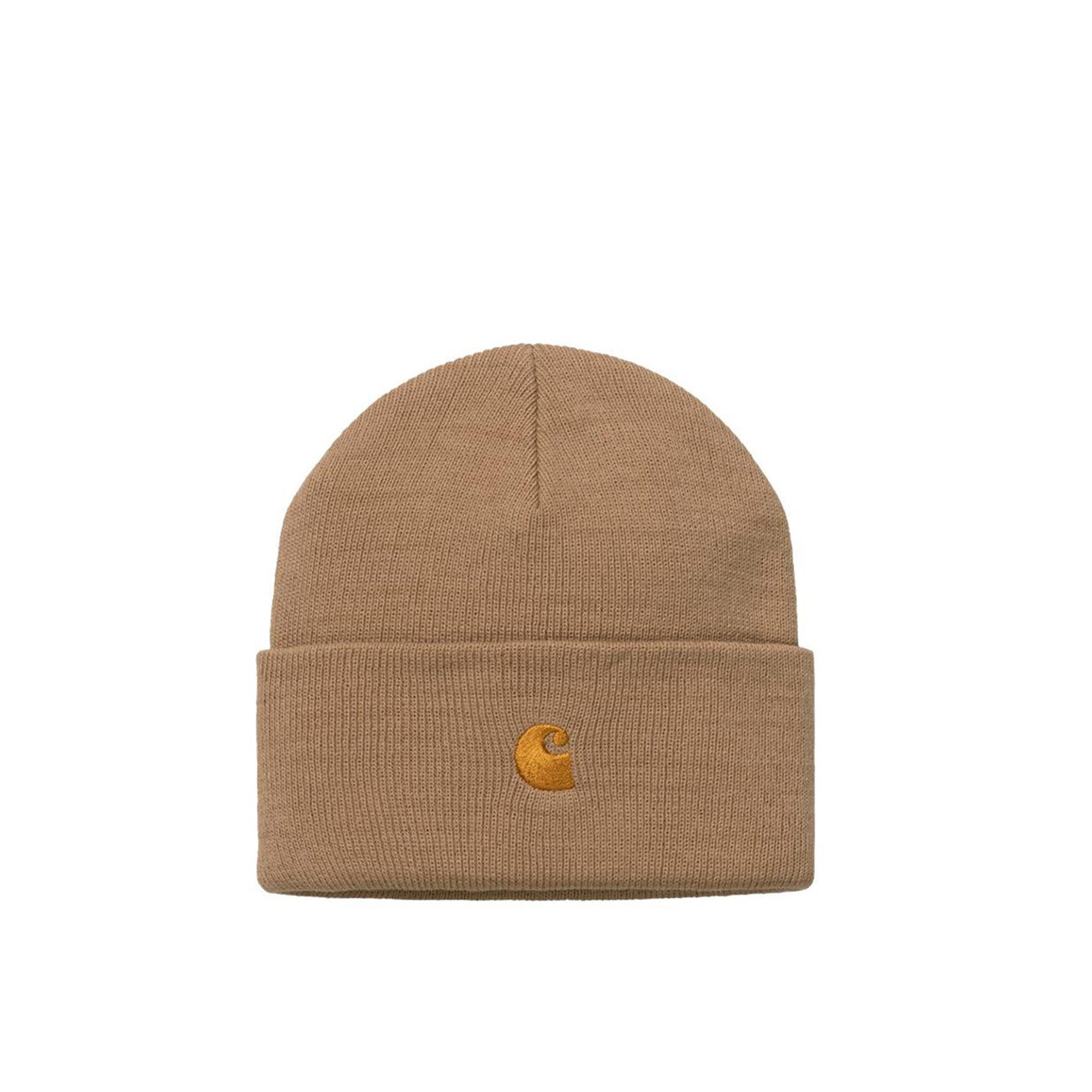 Carhartt WIP Chase Beanie: Dusty Hamilton Brown / Gold - The Union Project