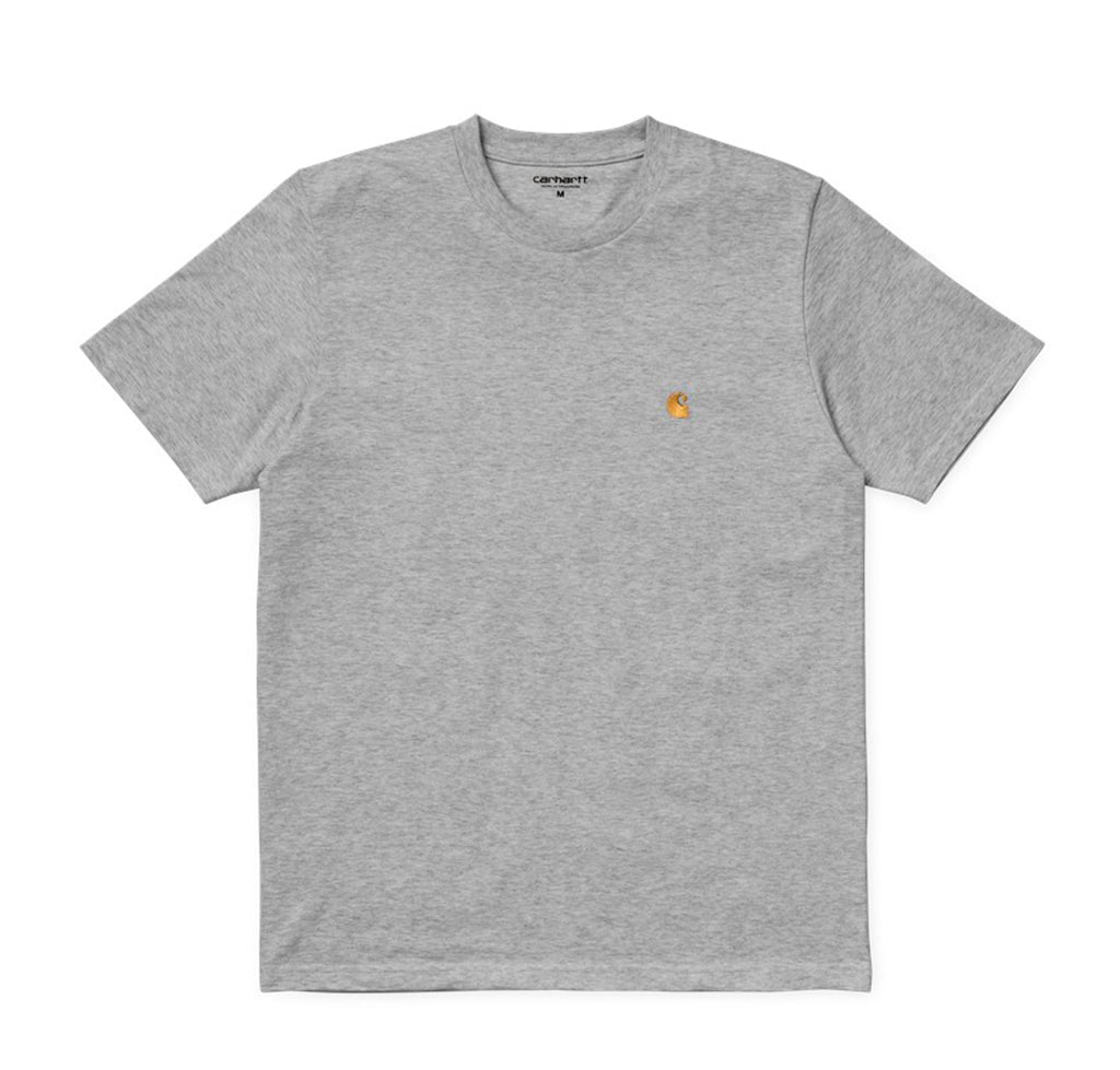T-Shirts Carhartt WIP Chase T-Shirt: Grey Heather - The Union Project, Cheltenham, free delivery