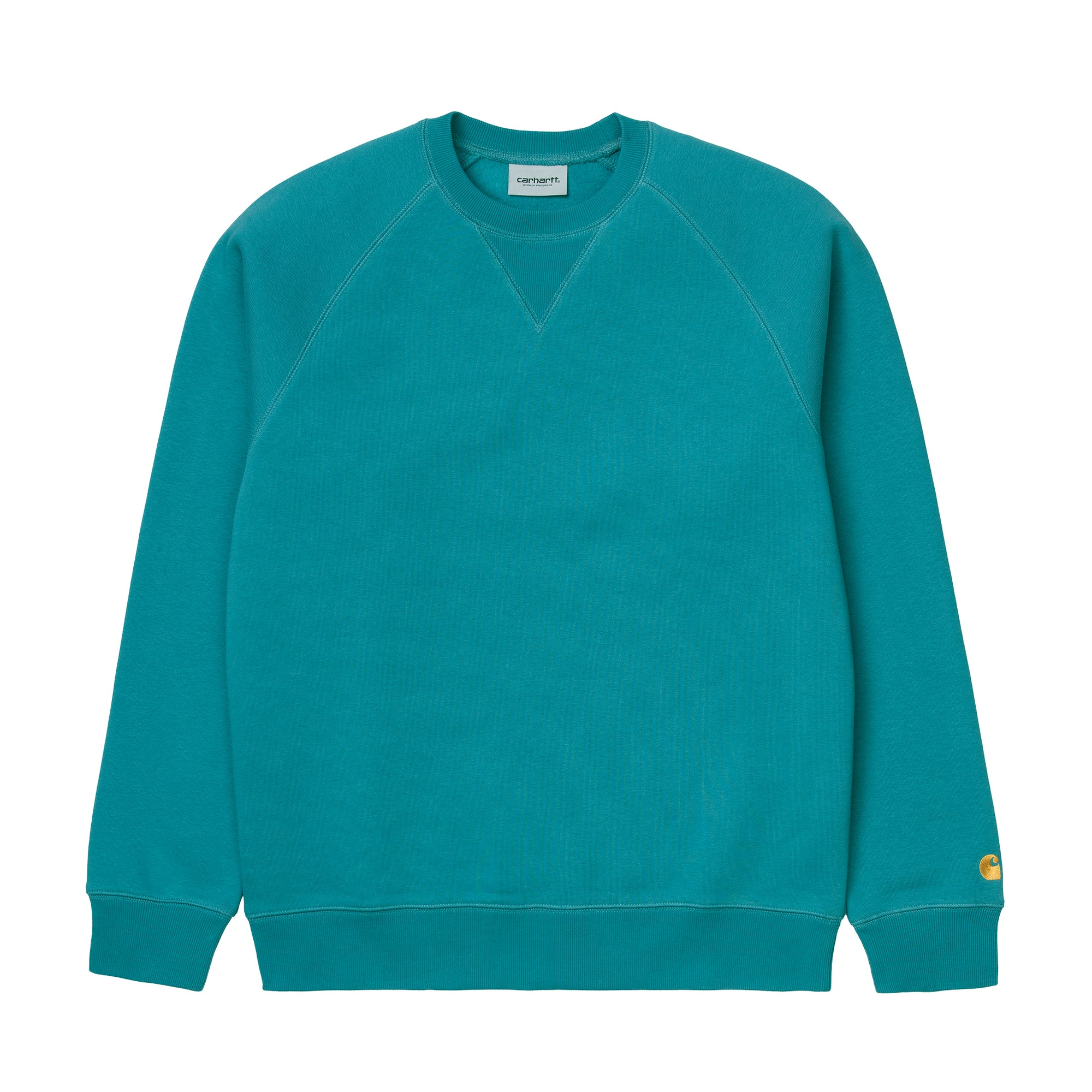 Carhartt WIP Chase Sweat: Hydro / Gold - The Union Project