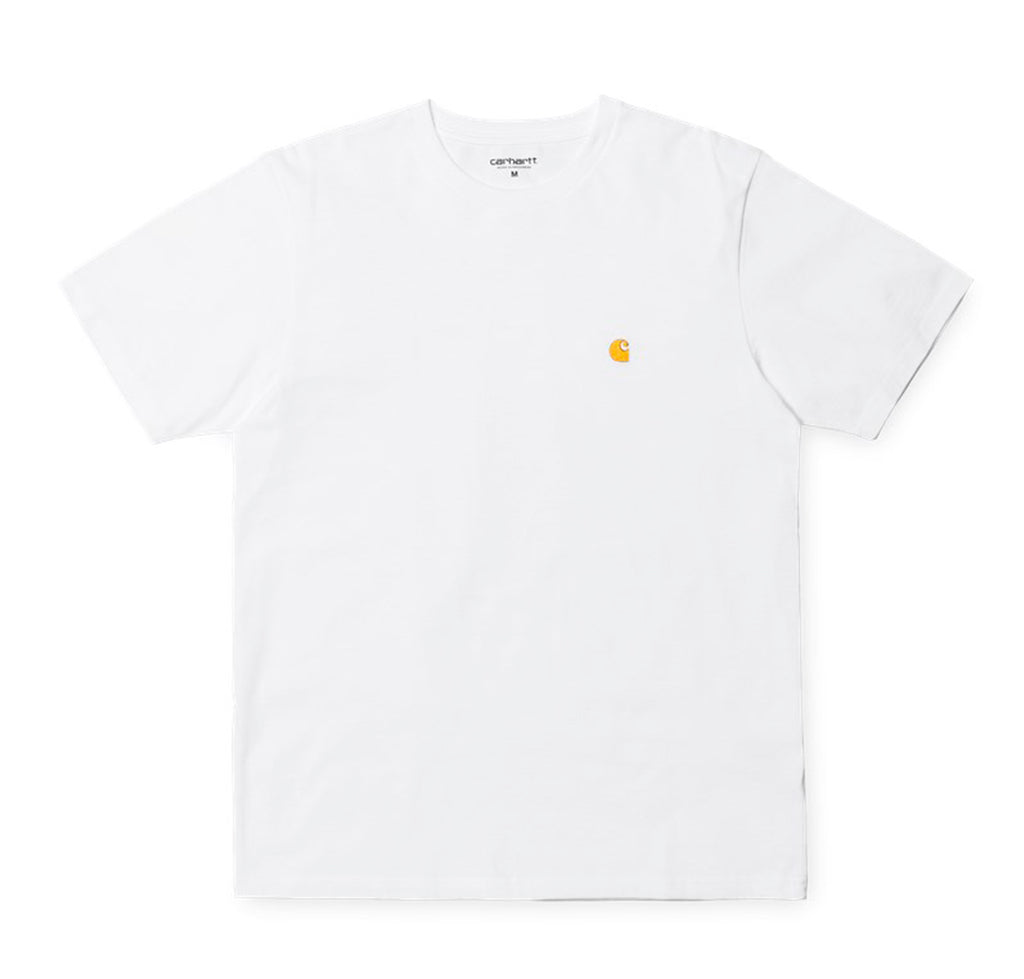 Carhartt WIP Chase T-Shirt: White/Gold - The Union Project
