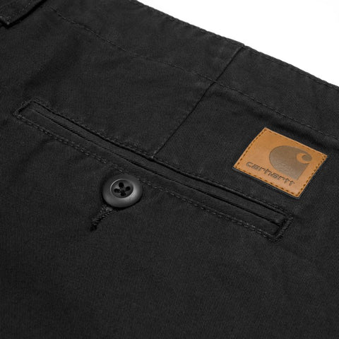 Trousers Carhartt WIP Club Pant: Black Stonewashed - The Union Project, Cheltenham, free delivery