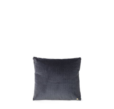 Cushions + Blankets Ferm Living Corduroy Cushion: Dark Grey - The Union Project, Cheltenham, free delivery