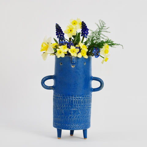 Plant Pots & Vases Atelier Stella Tall Tripod Vase: Matte Blue - The Union Project, Cheltenham, free delivery