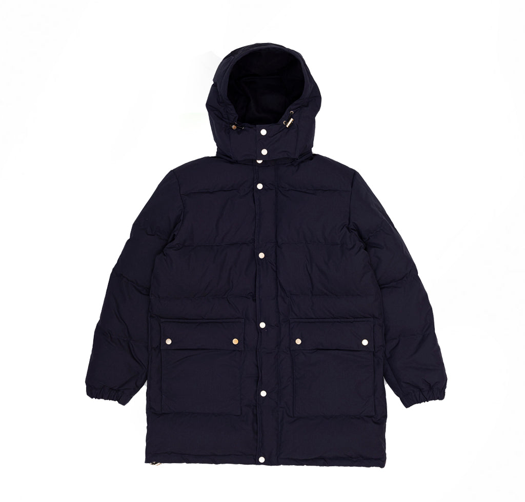 Danton Long Down Jacket (JD-8989): Navy - The Union Project