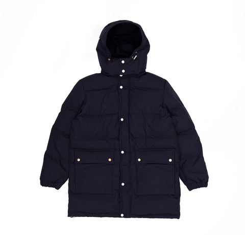 Danton Long Down Jacket (JD-8989): Navy