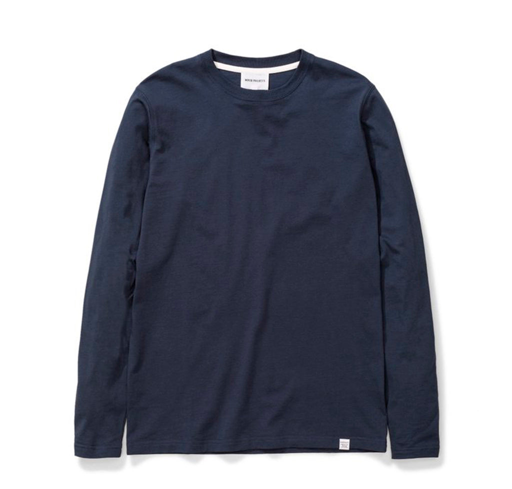 Norse Projects Niels Standard Longsleeve: Dark Navy - The Union Project