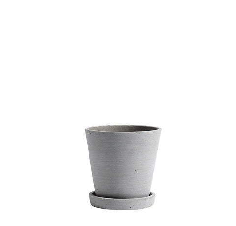 Plant Pots + Vases HAY Flowerpot w/ Saucer M: Grey - The Union Project, Cheltenham, free delivery