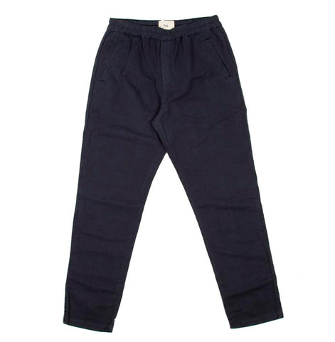 Legwear Folk Cotton Linen Trousers: Summer Navy - The Union Project, Cheltenham, free delivery