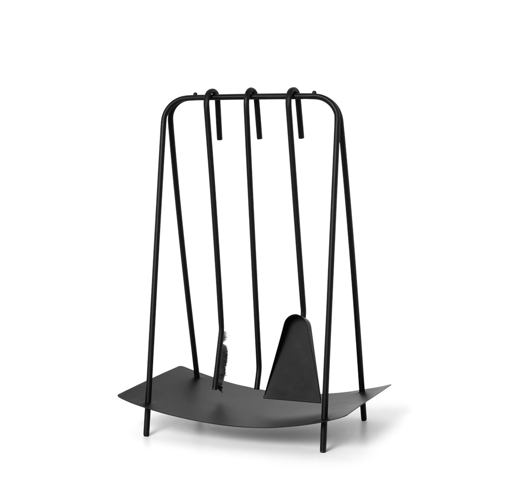Ferm Living Port Fireplace Tools: Black - The Union Project
