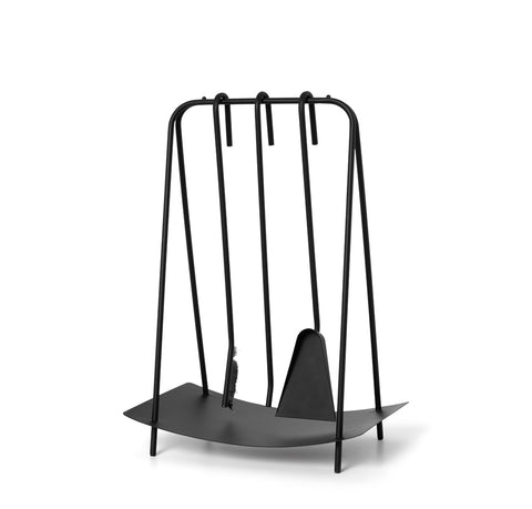 Ferm Living Port Fireplace Tools: Black