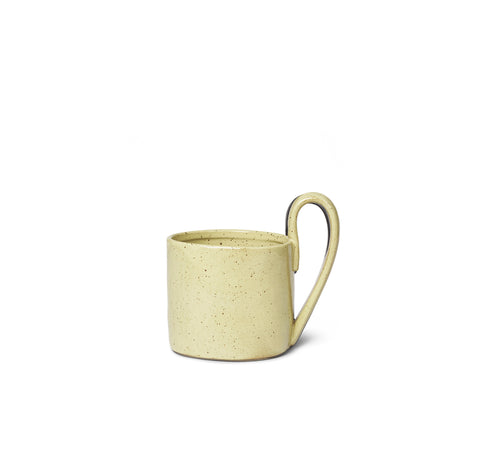 Mugs + Tumblers Ferm Living Flow Mug: Yellow Speckle - The Union Project, Cheltenham, free delivery