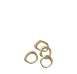Ferm Living Flow Napkin Rings set of 4: Brass