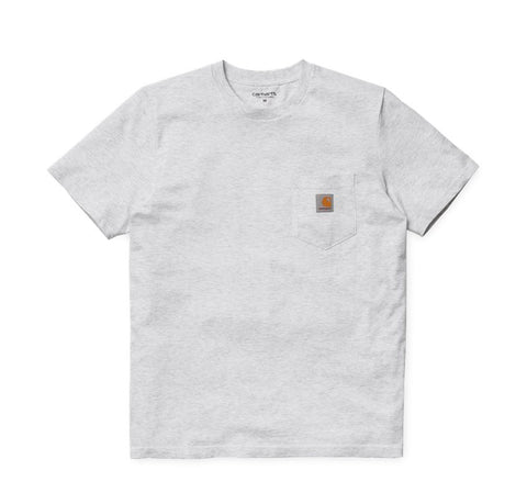 T-Shirts Carhartt WIP Pocket T-Shirt: Ash Heather - The Union Project, Cheltenham, free delivery