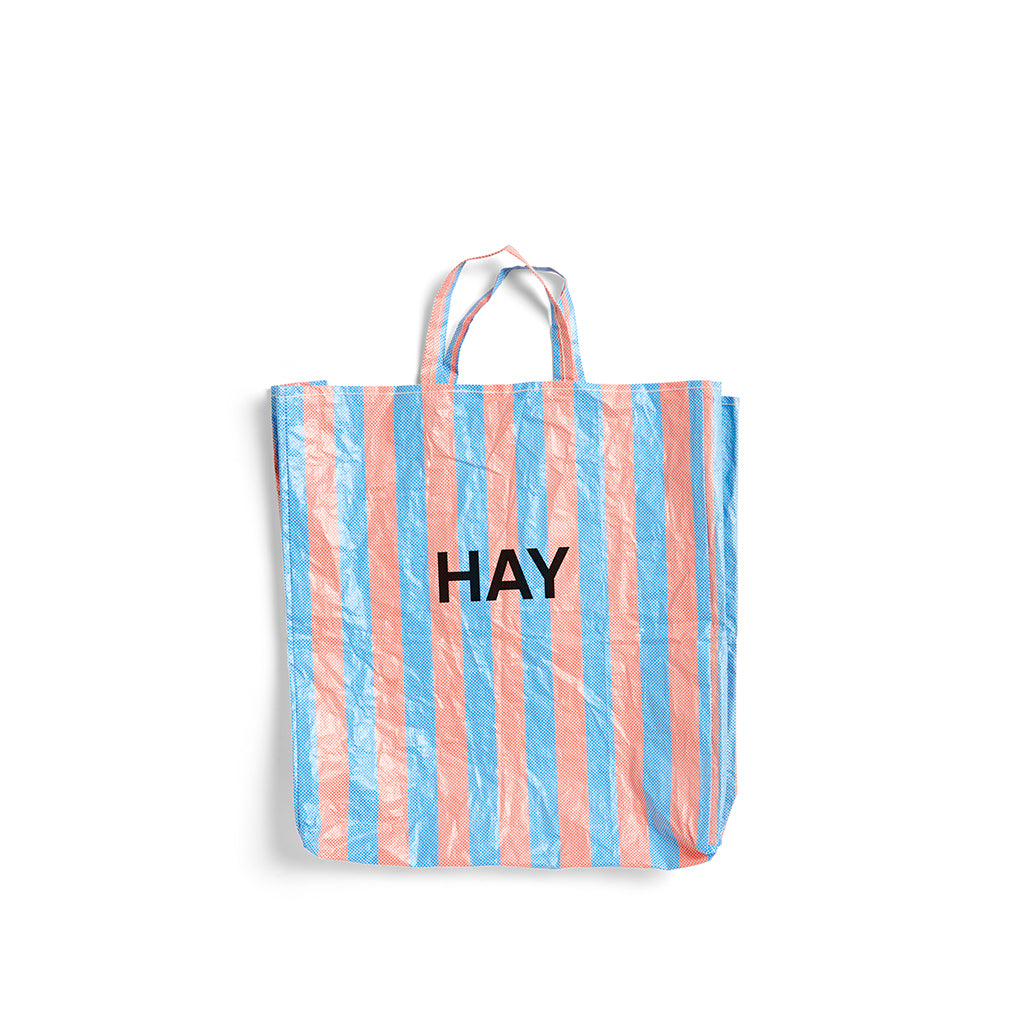 HAY Candy Stripe Shopper XL: Blue / Orange - The Union Project