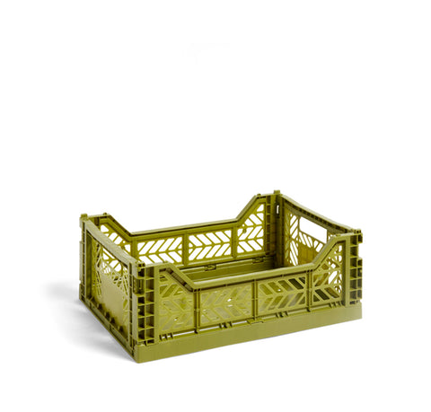 HAY Colour Crate M: Olive