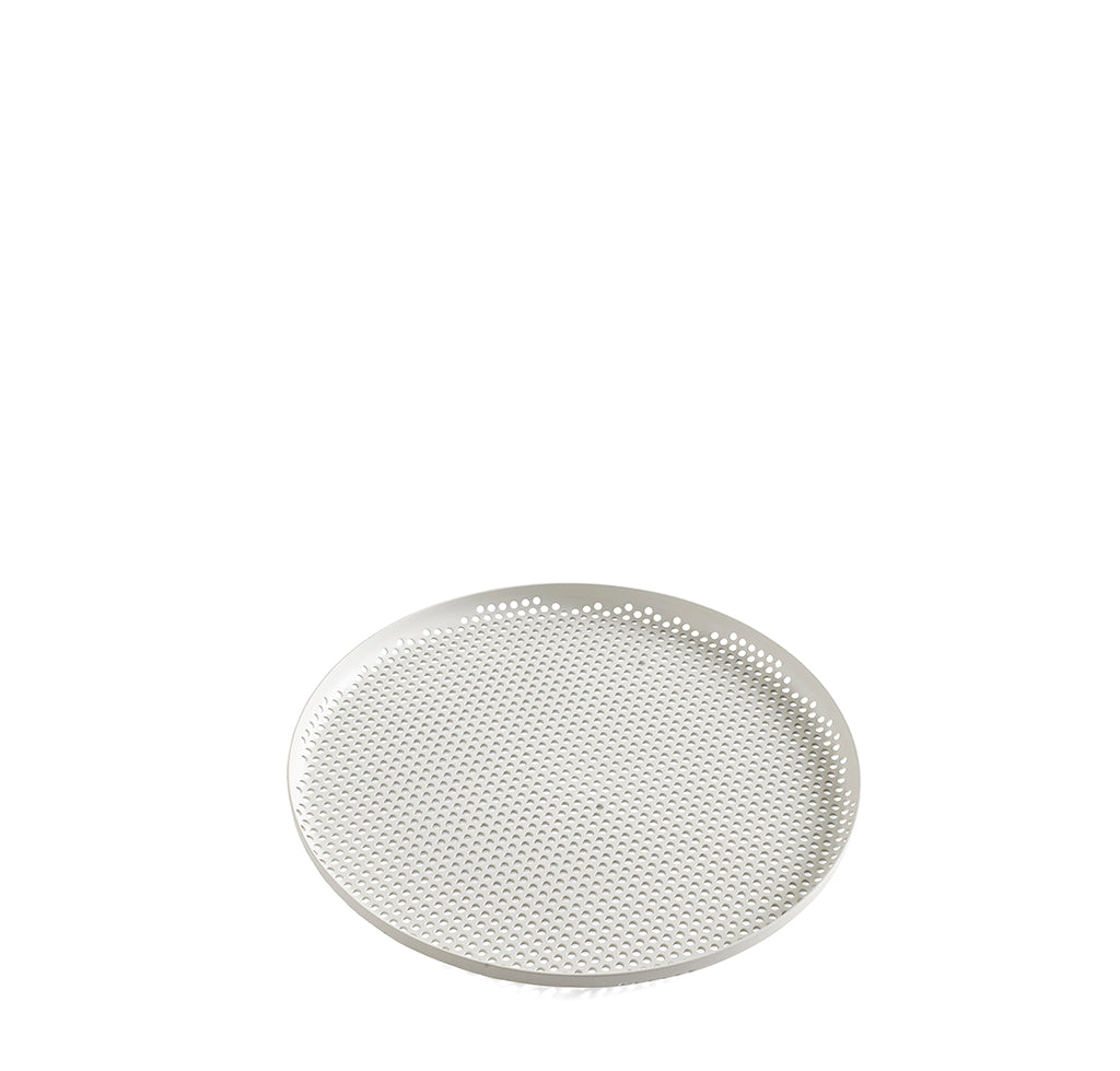 HAY Perforated Tray L: Soft Grey - The Union Project