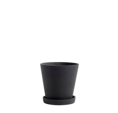 Plant Pots + Vases HAY Flowerpot w/ Saucer M: Black - The Union Project, Cheltenham, free delivery