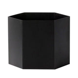 Plant Pots + Vases Ferm Living Hexagon Pot XL: Black - The Union Project, Cheltenham, free delivery