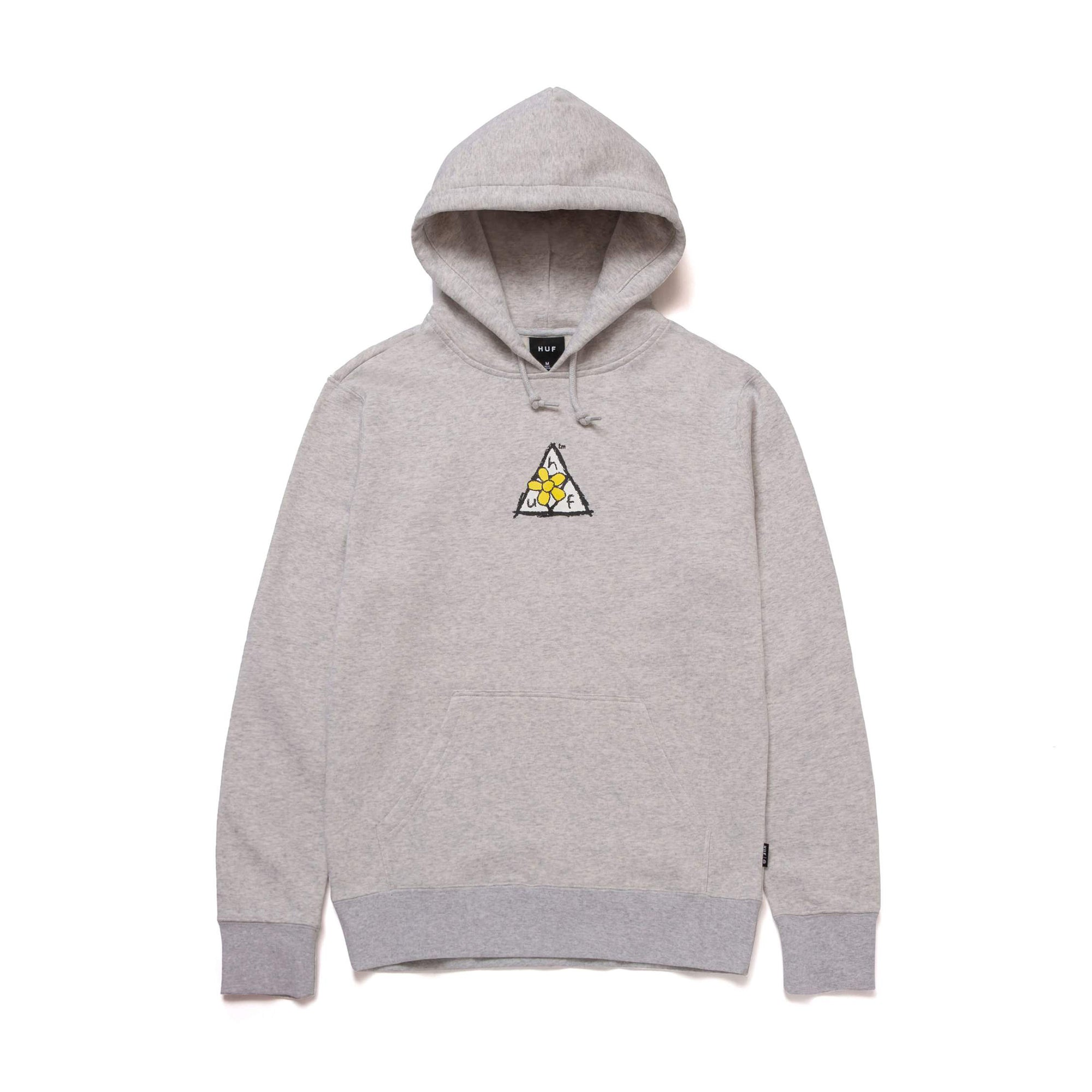 HUF Pushing Daisies TT  Hoodie: Athletic Heather - The Union Project