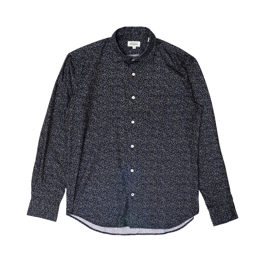 Shirts Hartford Penn Shirt: Dark Navy/Green Ivy - The Union Project, Cheltenham, free delivery