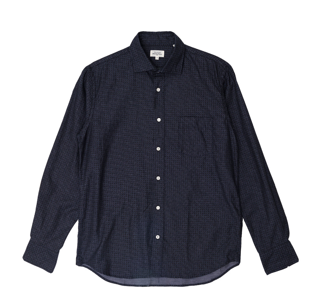 Shirts Hartford Paul Shirt: Navy Paisley Print - The Union Project, Cheltenham, free delivery