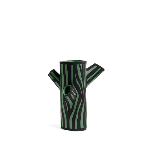 HAY Tree Trunk Vase M: Dark Green