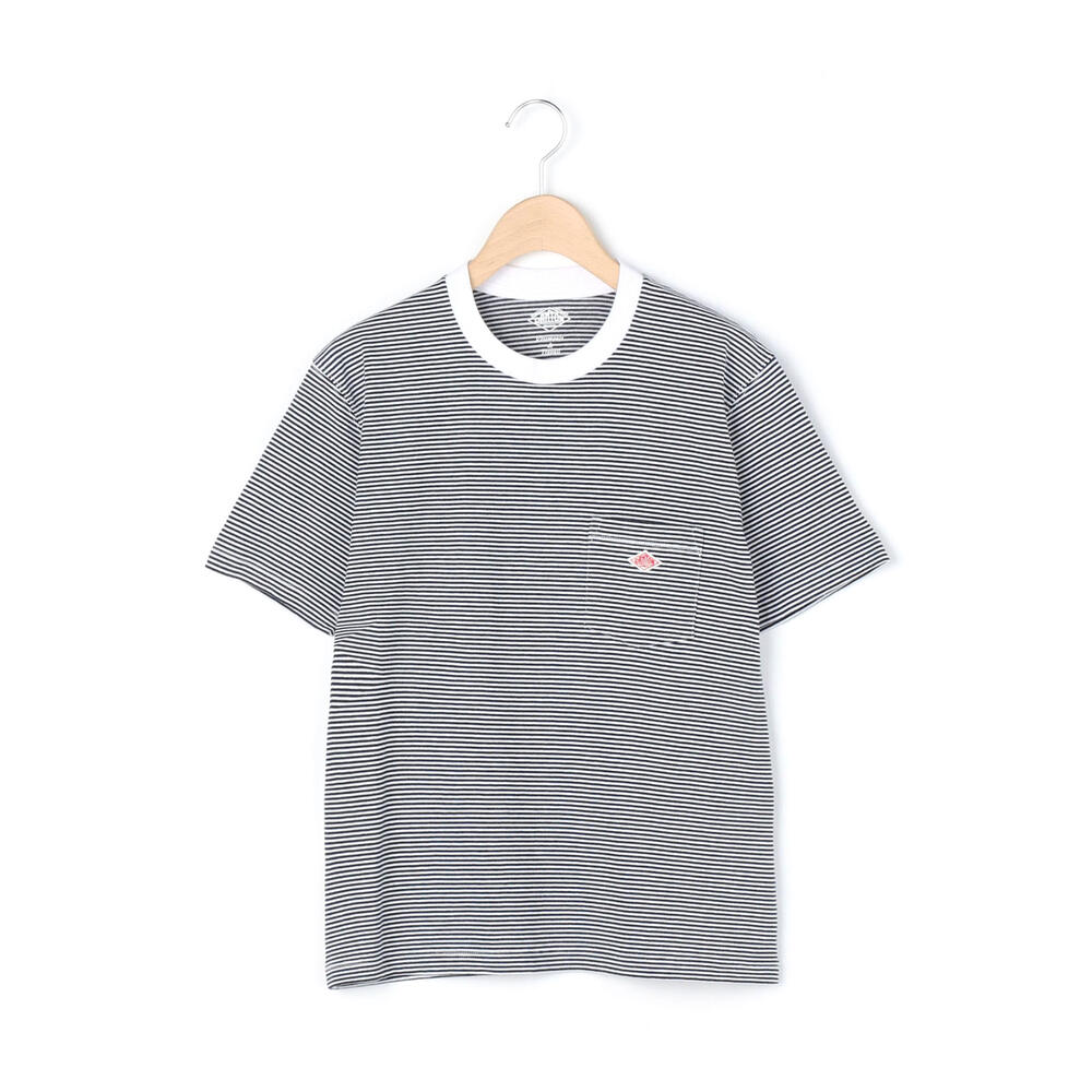 Danton Womens Stripe Pocket T-Shirt: White / Navy - The Union Project