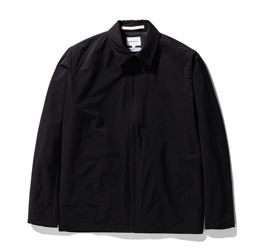 Norse Projects Jens Zip Packable: Black - The Union Project
