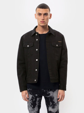 Nudie Jeans Jerry Jacket: Dry Black Twill