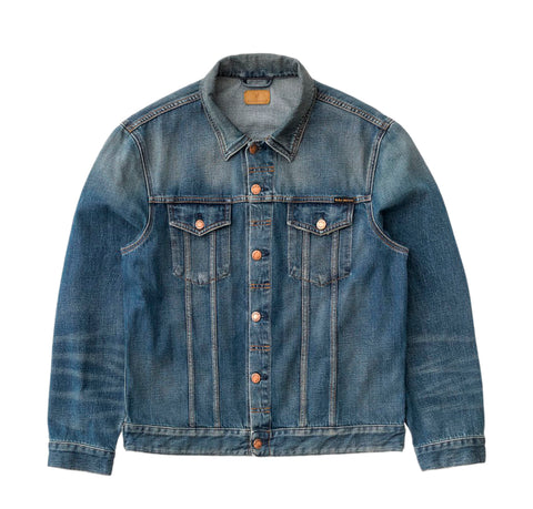 Nudie Jeans Jerry Jacket: Dark Worn Denim
